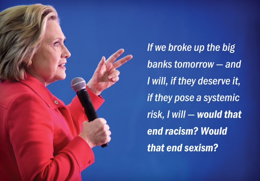 hillary clinton suggested breaking