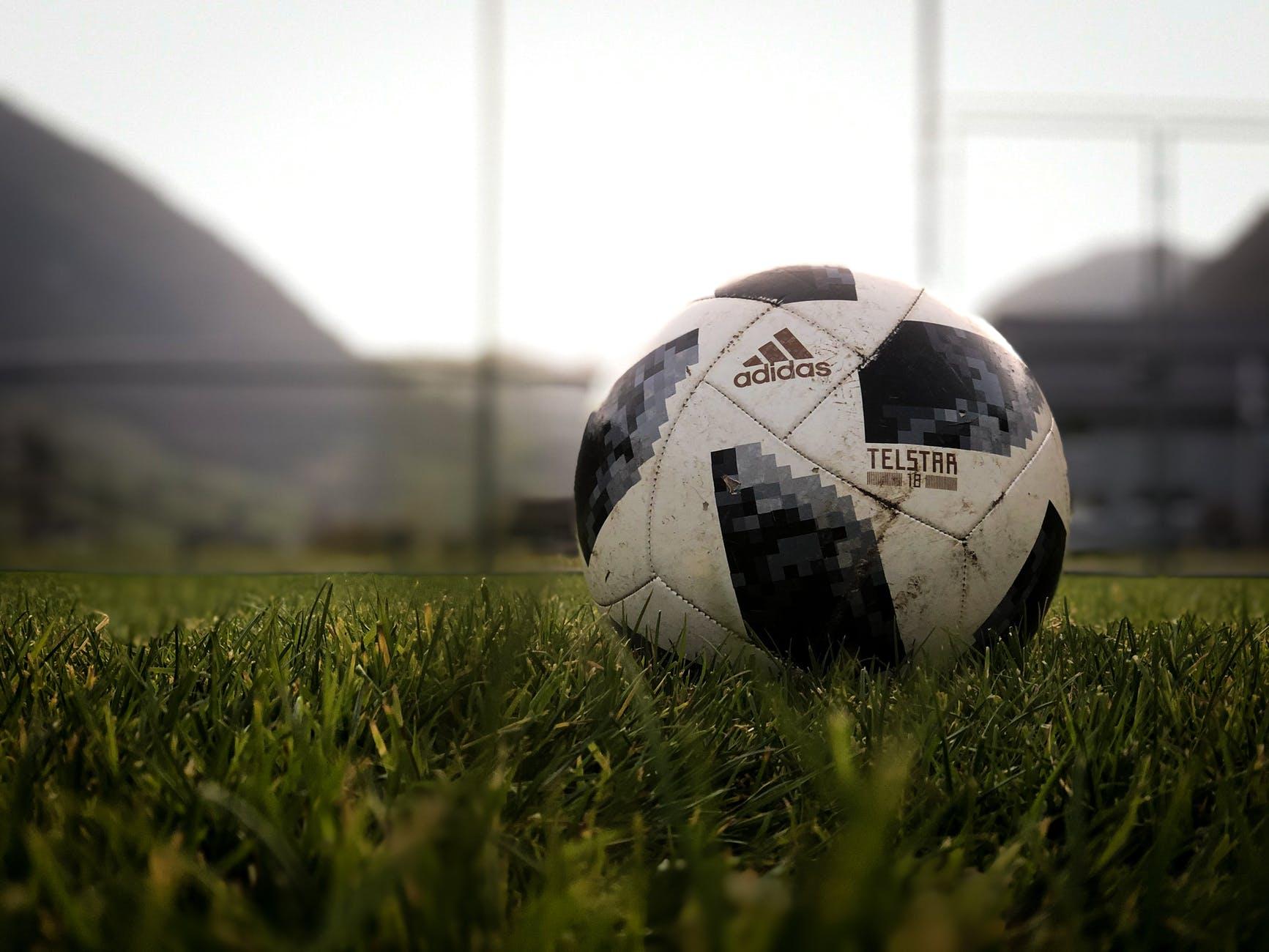 a soccer ball on the grass