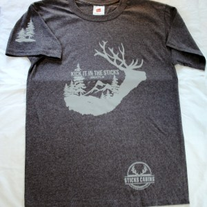 In The Sticks Cabins Heather Charcoal T