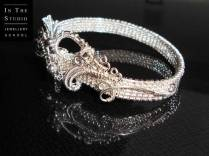 Dragonesque-Purity-Wove-Wire-Bangle