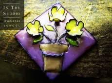Enamel-brooch-flowers-in-pot