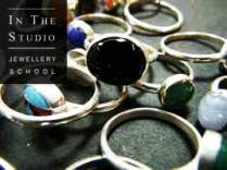 Silver rings with stone settings
