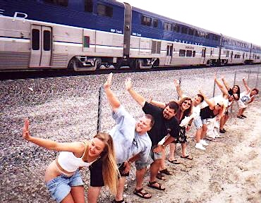 photo of people mooning amtrak