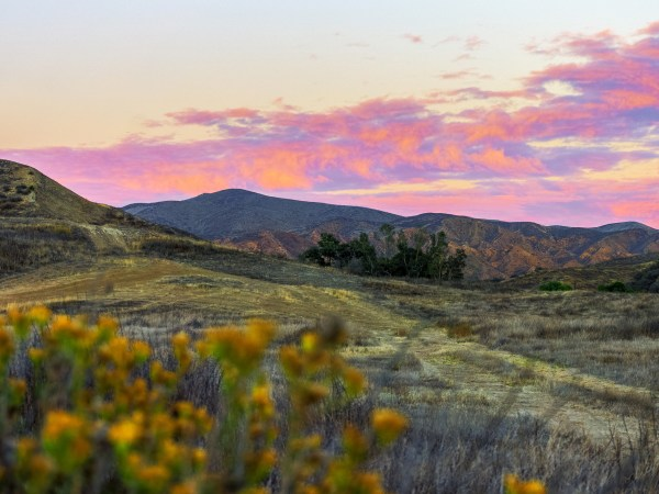 Vasquez Canyon Road Sunset