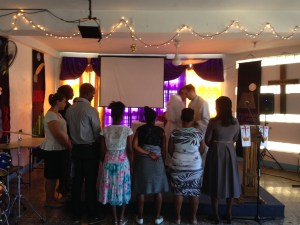 Communion at Faith, Kingston, Jamaica