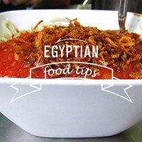 EGYPTIAN FOOD TIPS