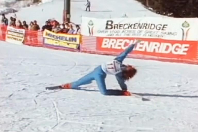Στιγμιότυπο από αθλητή του μπαλέτου με σκι