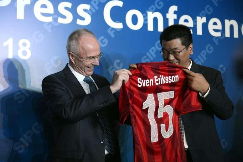 Ο Σβεν-Γκόραν Έρικσον στην παρουσίασή του ως νέος προπονητής της Σανγκάη SIPG στο νέο ξεκίνημα της ομάδας!