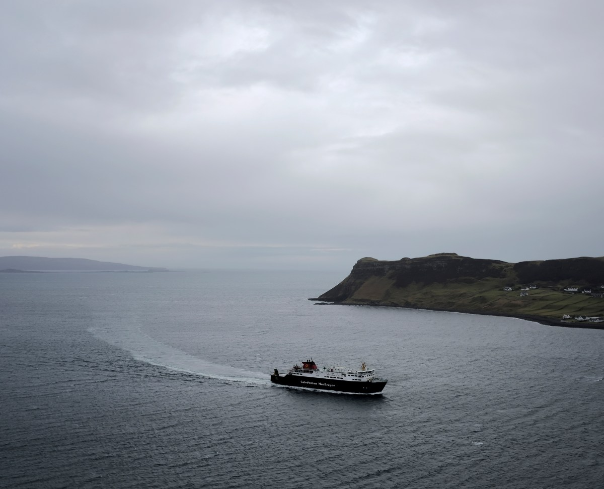 Ferry arriving uig