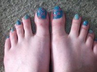 Simple Floral Toe Nail Design! :) | inthoughtinwordindeed