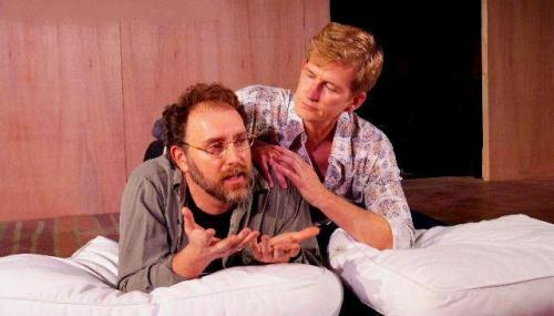 Tim Cummings and Bill Brochtrup in rehearsal for 'The Normal Heart' at the Fountain Theatre.