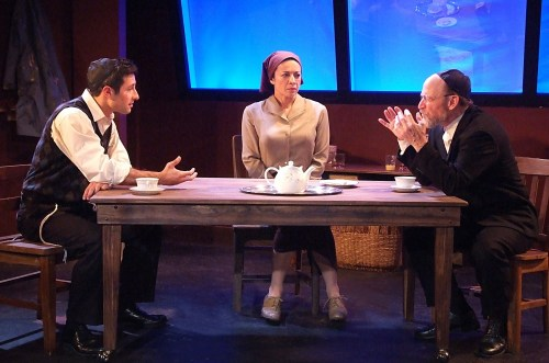 Jason Karasev, Anna Khaja and Joel Polis in 'My Name Is Asher Lev'.