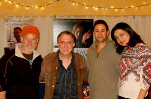 Akiva Potok with the 'Asher Lev' cast