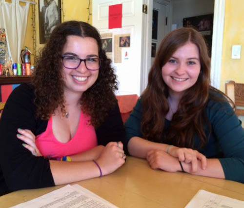 2014 Fountain interns Gabby Lamm and Alice Kors
