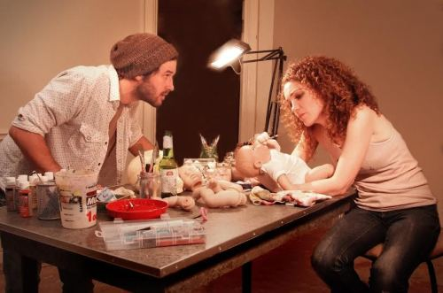 Ryan Doucette, Joanna Strapp in 'Reborning'.