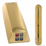 Arany színű rúdvibrátor, luxus széria, large