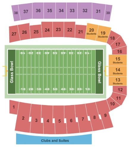 Glass Bowl Tickets and Glass Bowl Seating Chart  Buy