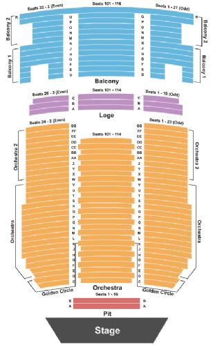 Paramount theater seating chart seattle