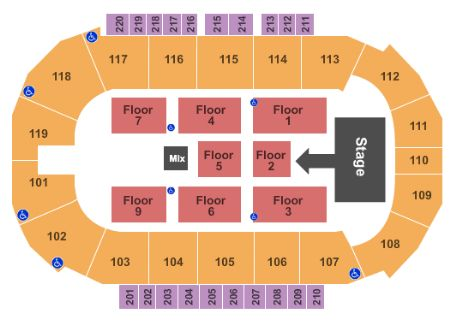 Showare Center Tickets And Showare Center Seating Chart