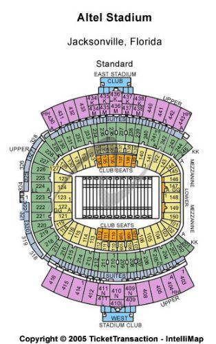 Everbank Seating Chart : everbank, seating, chart, EverBank, Field, Parking, Tickets, Seating, Chart, Jacksonville, Stub.com!