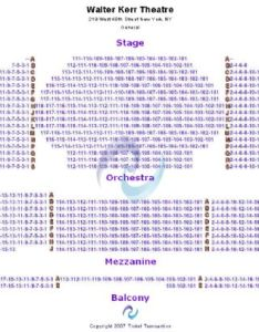 Venue map also walter kerr theatre tickets and seating chart rh stub