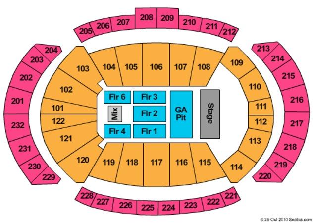Seating Chart Sprint Center Kansas City Mo