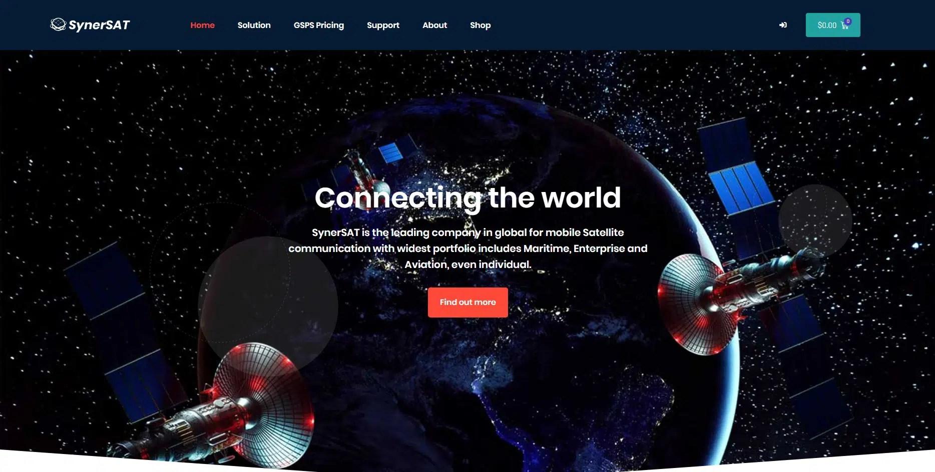 시너셋(SYnersat) 뉴질랜드 지역 브랜드 웹사이트 구축