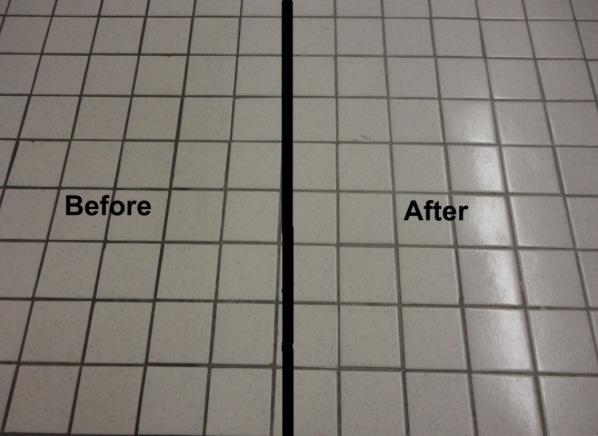 Ceramic Tile Polishing (No Wax Needed)