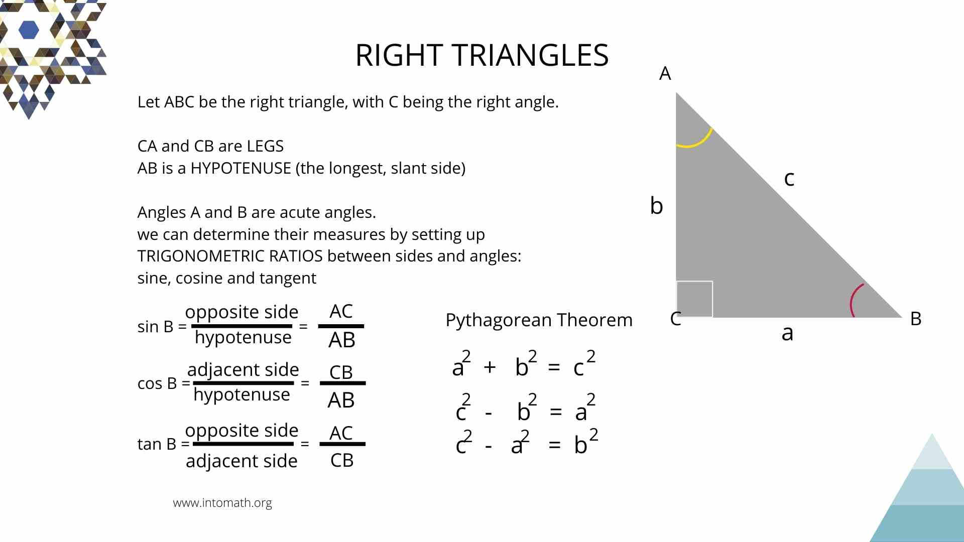 Lesson 5 Right Triangle Trigonometry Trig Ratios