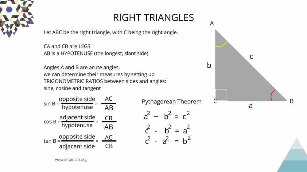 medium resolution of Lesson 5: Right Triangle Trigonometry. Trig ratios - IntoMath