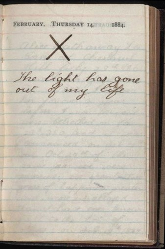 Theodore-Roosevelt's-diary-the-day-his-wife-and-mother-died,-1884
