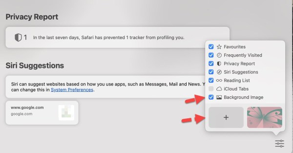 How to Change Safari Background Image on macOS Big Sur (Safari 14)