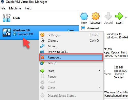 How to Delete a Virtual Machine on VMware and VirtualBox in Windows 10