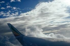Ich habe noch nie so viel aus dem Fenster gesehen wie bei diesen Flügen