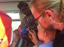 Fahrgäste im Bus nach Morogoro