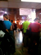 Long line for Visa to Nepal