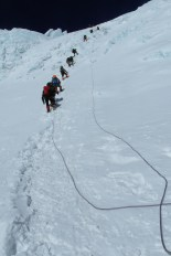 Climbing up the North Col