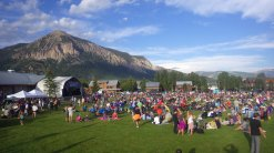 Crested Butte's summer music festivals. Crested Butte Mountain in the background