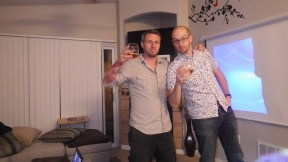 Me and Richard getting drunk after several years of not drinking together.