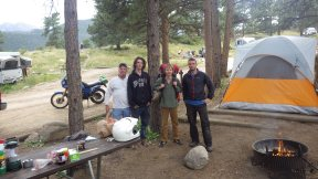 My camping neighbors at Rocky Mountains National Park