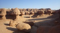 The 'Goblins' of Goblin valley State park, Utah. There are loads of them.