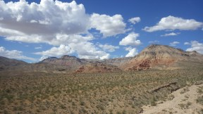 Riding out of Utah and into Nevada.