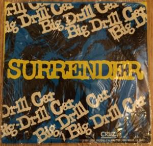 yellow_vinyl_cruz_big_drill_car_surrender_cover