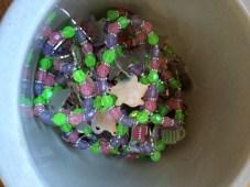 Tea set charm bracelets as party favors!
