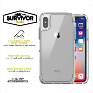 Griffin Survivor Clear - Transparent for iPhone 8/7, 8/7 Plus, XS and X