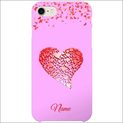 iPhone 8 Case | Valentine Hearts D4 (Optional Name/Message)