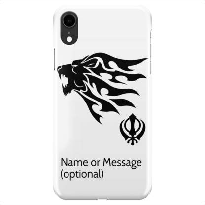 iPhone XR Case - Sikh Khanda Lion (Optional Name/Message)