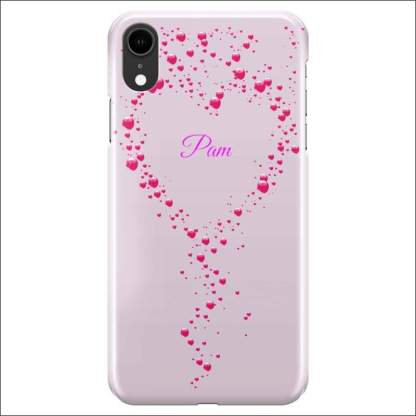 iPhone XR Case | Valentine Hearts D3 (Optional Name/Message)