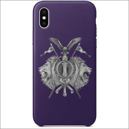 iPhone XS & X Full Wrap Case - Sikh Khanda Lion