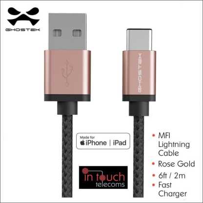 MFi Certified Fast Charge 3m Lightning Cable | Ghostek NRGline